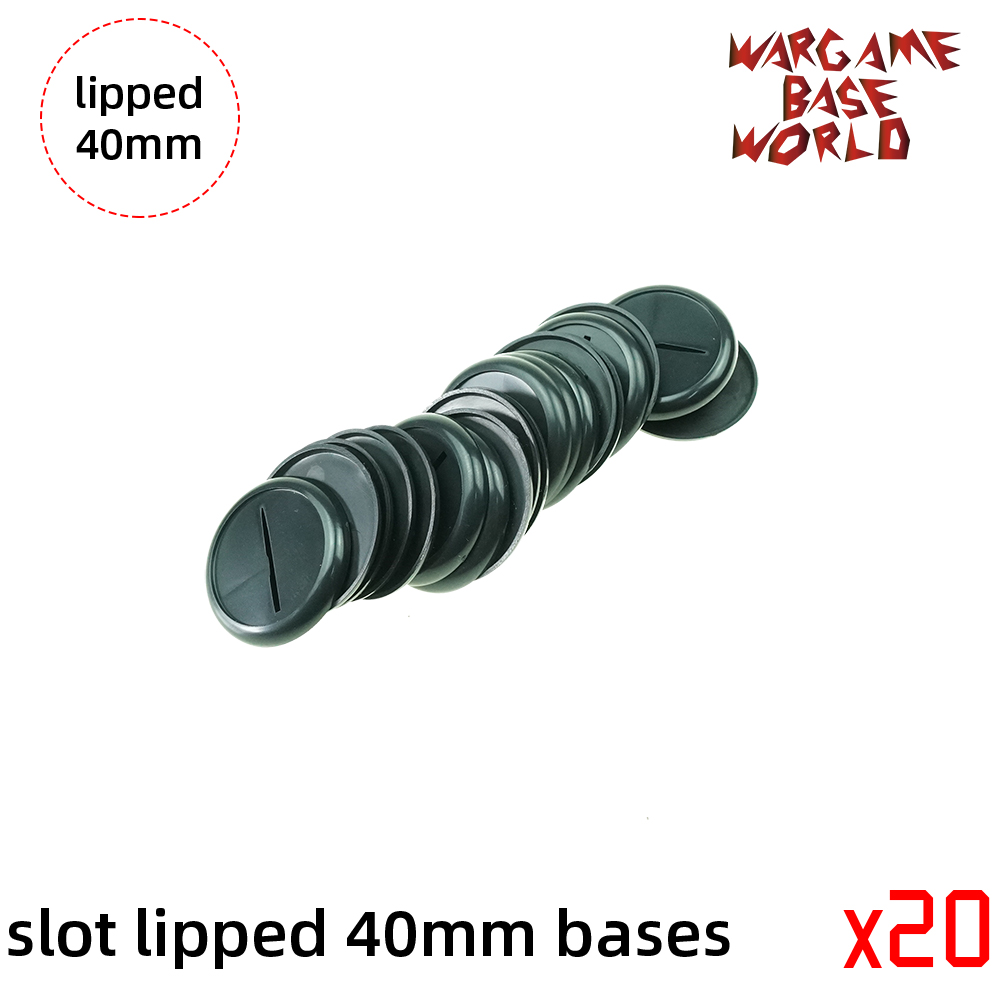 40mm Slot Lipped Bases Table Games For War Machine