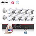 Камера видеонаблюдения AZISHN H.265, 8 каналов, 5 Мп, NVR, POE