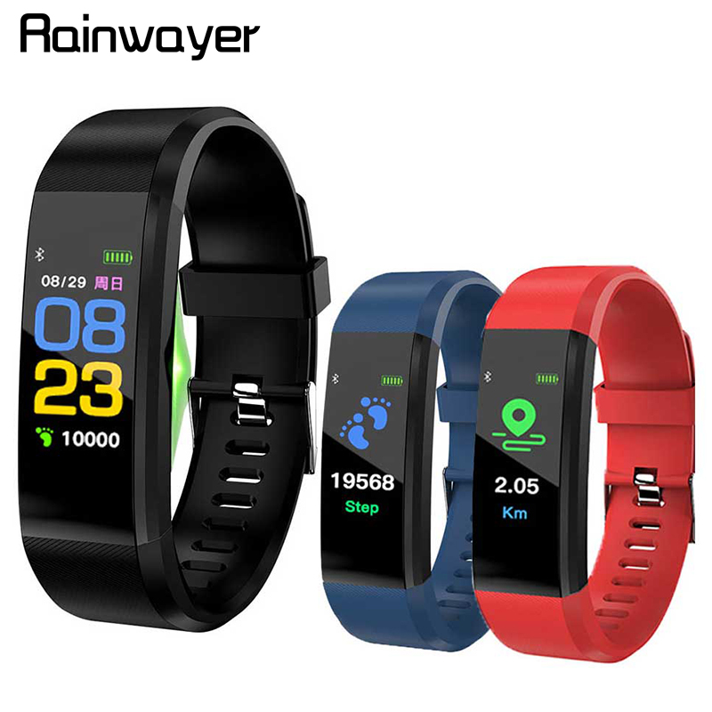 115 Plus Smart Wristband Blood Pressure Watch Fitness Tracker Heart Rate Monitor Band Smart Activity Tracker Bracelet A2
