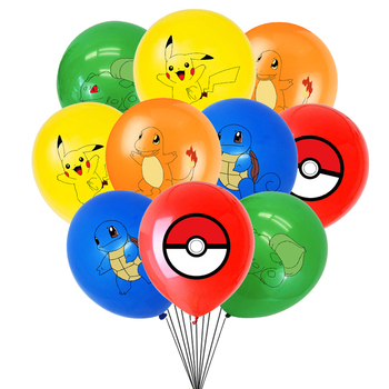 10pcs/lot 12inch pokemon multicolor balloons Pikachu latex ballons Children Kids toy Happy Birthday Party Anime theme Decoration