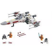 Legoinglys серия Звездные войны x-крыла космический истребитель Модель Цифры конструкторных блоков, Детские кубики, игрушки для детей Рождественский подарок 75128