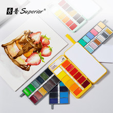 Juego de acuarela de colores sólidos, paleta básica de neón brillante para pintar, suministros de arte, Superior, 36 colores