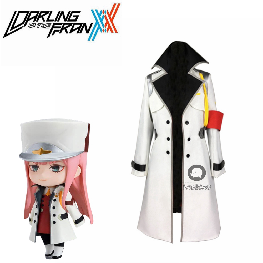 Anime DARLING In The FRANXX Cosplay Costume 02 Cosplay Zero Two Brand Women White Coat Free Shiping
