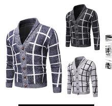 2020 мужской тонкий свитер длинные рукава с круглым вырезом