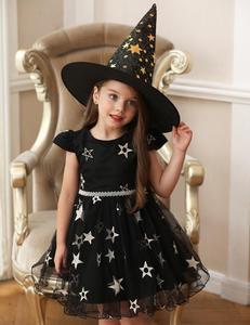 Image 4 - فستان عيد الميلاد هالوين زي حفلة أطفال أطفال تأثيري حلي للبنات فستان مع قبعة 3 5 7 9 11 13 سنة