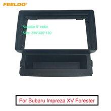 """FEELDO Radio Âm Thanh Mặt Ghi Fascia Khung Cho Subaru Impreza XV Forester 9 """"Màn Hình Lớn CD/DVD người Chơi Bảng Dash Gắn Bộ"""