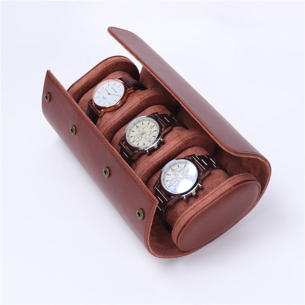 plutônio caixa rolo 3 slots relógio armazenamento