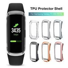 360 Degree TPU Protector Case Cover Shell For Samsung Galaxy Fit SM-R370 Smart Bracelet Protective Transparent Plating