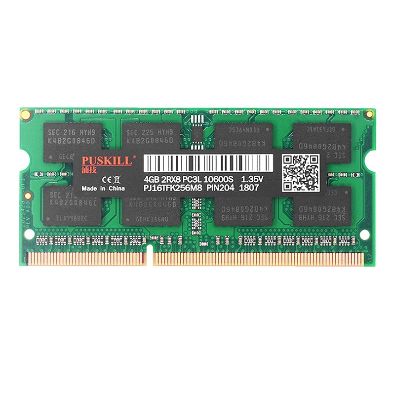PUSKILL 4G DDR3 RAM 1600MHz 1.35V 204-Pin Computer Game Memory Module, Suitable for Laptop, Industrial Computers