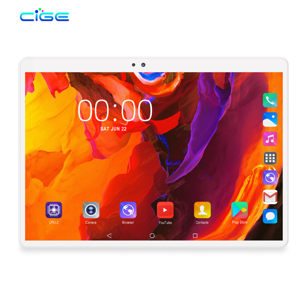 2020 Newest Tablet PC 10 Inch Android 9.0 Octa Core 6GB RAM 64GB ROM Tablets WiFi Phablet Dual SIM 4G FDD Lte WiFi Bluetooth GPS