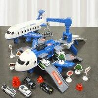 QWZ-nueva pista de simulación de inercia para niños, avión de pasajeros de gran tamaño, Avión de simulación de música, regalo para el coche