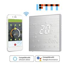 Nowy WiFi inteligentny termostat regulator temperatury do wody elektryczne ogrzewanie podłogowe woda kocioł gazowy współpracuje z Alexa Google Home tanie tanio CN (pochodzenie) NONE WiFi Smart Thermostat Temperature Controller