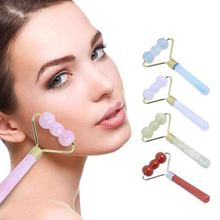 Face Slimming Roller Jade Stone  Massager Face Plate Board Roller Jade Stone Slimming Body Massager Beauty Health Care Tools
