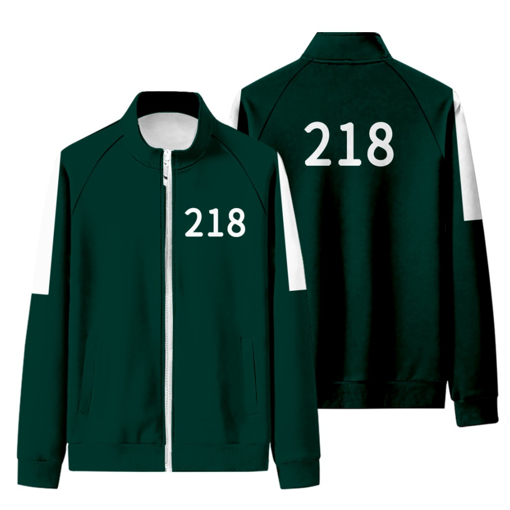 Jogo de lulas série tv cosplay jaqueta