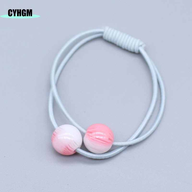 CYHGM Girls Kawaii Elastic Hair Bands Decoration Jelly Bow Satynowa Gumka Cheveux Femme Hair Accessories Brand G016