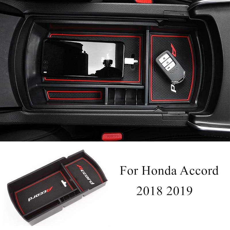 abs console do carro caixa de armazenamento braco multifuncoes kit decoracao interior acessorios para honda accord