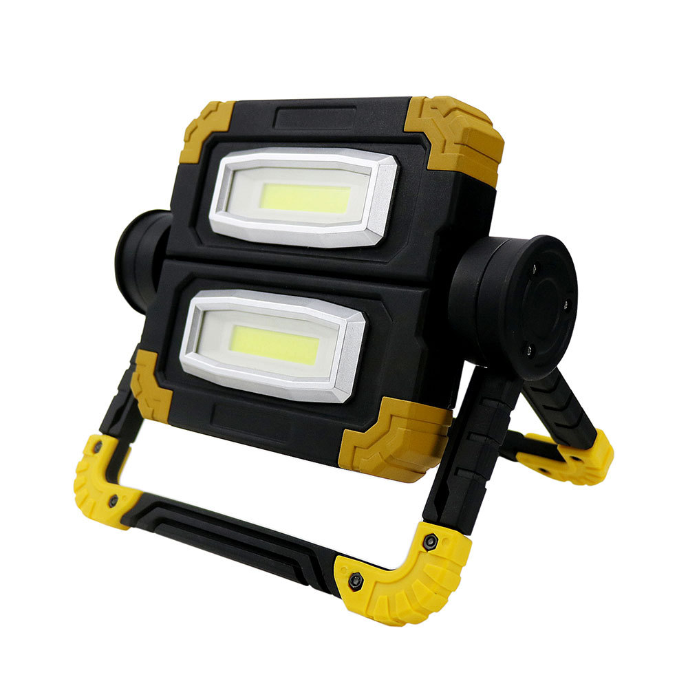 10W LED Portable Spotlight Super Bright Work Light Rechargeable For Outdoor Camping Flashlight COB Hand Light