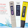 Цифровой измеритель PH /TDS/ EC Тестер термометр ручка Чистота воды PPM фильтр гидропоники для аквариума бассейна воды монитор Скидка 40%
