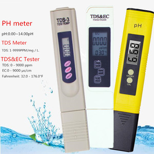 Digital PH /TDS/ EC Meter Tester Thermometer Pen Water Purity PPM Filter Hydroponic for Aquarium Pool Water Monitor 40% off