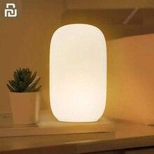 Youpin Qualitell שינה מנורת נטענת רך סיליקון לחץ מתוזמן כיבוי אדום אור וחם צהוב אור