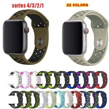 wristband For Apple Watch band series 5 4 Sport silicone 38mm 42mm 40mm 44mm strap For iwatch 1 2 3 bracelet цена и фото