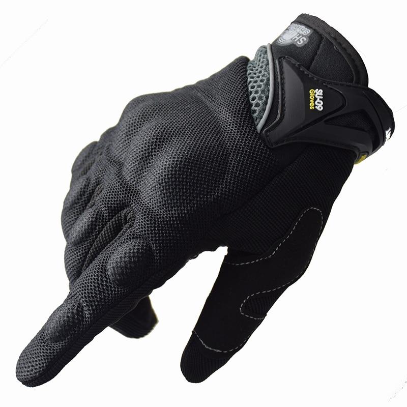 Motorcycle Riding Gloves Cycling Gloves Full Finger Motocross Motorbike Gloves Luvas Da Moto Touch Screen Black M-XXL