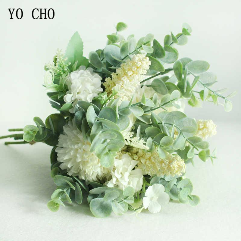 Di Alta Qualità Artificiale Fiore Cinese di Granchio-Apple Bouquet di Fiori di Crisantemo Fiore di Seta Della Decorazione Della Casa Fiori