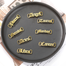 Custom Name Shoe Buckles Gold Silver Color Stainless Steel Shoelace Buckle Shoe Decoration Charm Sneaker Accessories Jewelry