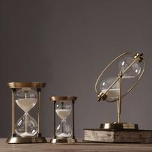 Modern Simple Metal Hourglass Timer Arrangement Scandinavian Style Creative Home Soft Decoration Living Room