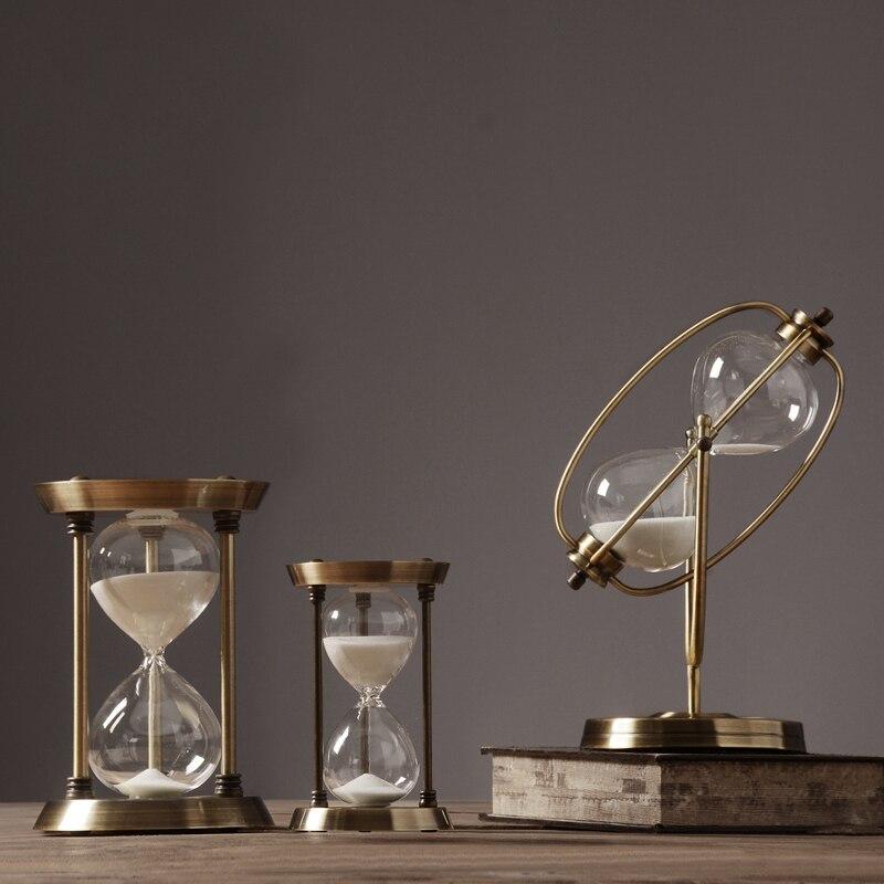 Moderne Simple métal sablier minuterie Arrangement Style scandinave créatif maison douce décoration salon Arrangement métal