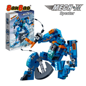 Image 4 - BanBao Robot Transformer Speedboat 2 in 1 Building Blocks Creative Educational Bricks Model Toys Kids Children Gift 6318