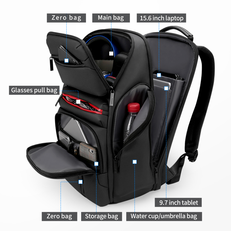 Mark Ryden мужской рюкзак подходит для 17 дюймов ноутбука USB зарядка многослойная космическая дорожная сумка бизнес мужская Противоугонная сумк... - 2