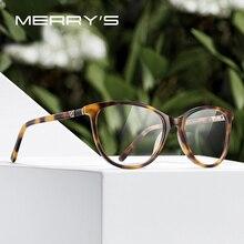 MERRYS DESIGN Women Acetate Glasses Frame Cat Eye Eyewear Optics Frame Luxury Prescription Glasses Frames Optical Eyewear S2094