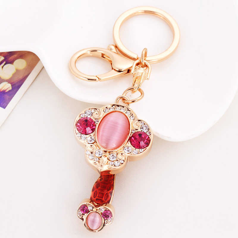 สไตล์จีน Lucky Sign Ruyi แฟชั่นโลหะพวงกุญแจรถกระเป๋าเครื่องประดับของขวัญจี้คีย์แหวนมงคลอุปกรณ์เสริม