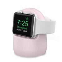 Silikonowa stacja dokująca do zegarka apple 5 4 3 iWatch 44mm 42mm 40mm 38mm silikonowy uchwyt ładowarki apple watch akcesoria