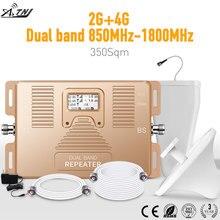 Inteligentny wzmacniacz sygnału 2G + 4G dwuzakresowy 2g/3g 4g 850/1800mhz CDMA + DCS mobilny wzmacniacz sygnału zestaw wzmacniacza komórkowego