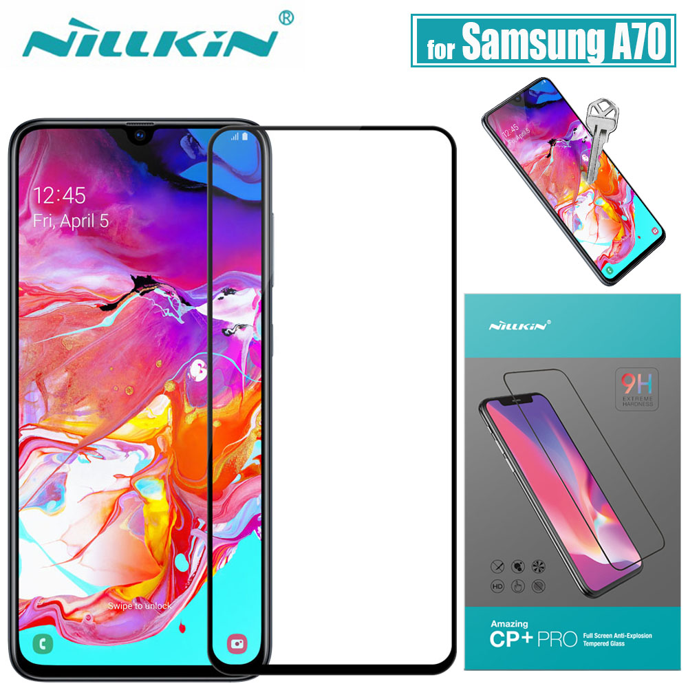 Nillkin for Samsung Galaxy A70 Glass Screen Protector 2.5D Full Coverage Safety Protective Glass for Samsung A70 Tempered Glass|Phone Screen Protectors| |  - title=