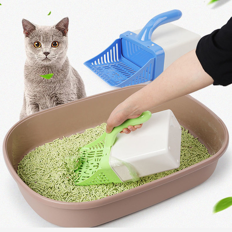 Cat Litter Shovel Pet Cleanning Tool Plastic Cleaning Products Toilet For Dog Food Spoons Scoop Cat Litter Bag  Sand Scoop
