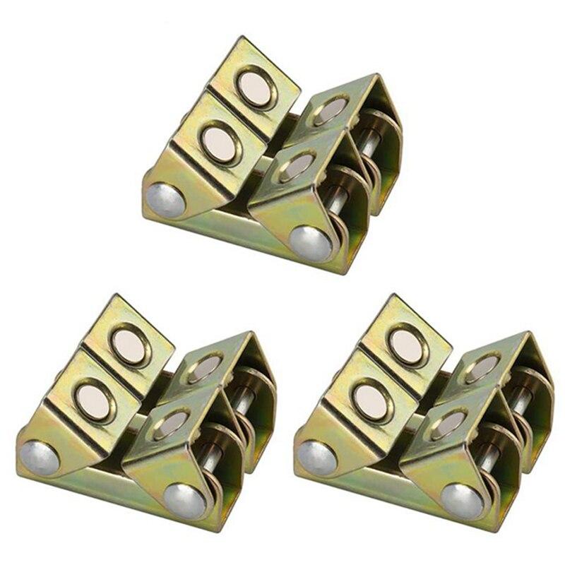 V Type Welding Jig Magnetic Welding Clamps Fixture Adjustable for Door Window Tool V Pads Weld Holders Hand Tool 6Pcs