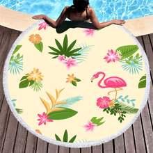 2020 популярное полотенце из микрофибры с ручной росписью фламинго