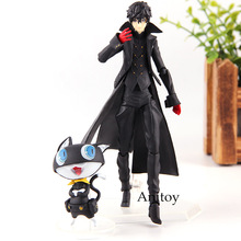 Persona 5 Ren Amamiya Joker with Morugana Mona Doll  363 PVC Action Figures Collection Movable Model Toys