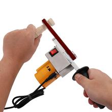 Ręczny szlifierka taśmowa Mini szlifierka szlifierka kątowa mikro szlifierka szlifierka taśmowa do szlifowania drewna elektronarzędzia tanie tanio meterk 30 * 10mm 13 0 * 0 4in DC 12-24V 4000-9000r min Belt Sander for narrow corners Energii elektrycznej Domu DIY 565g 1 2lb