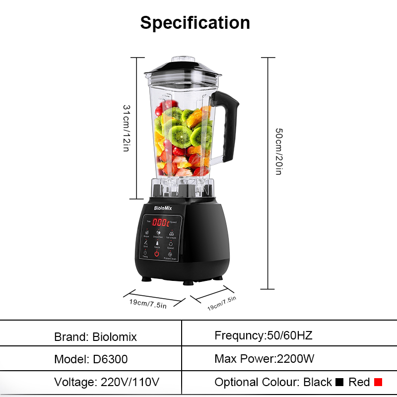 Hca8e93fa9efd4bc29f973e6a60626692l Digital 3HP BPA FREE 2L Automatic Touchpad Professional Blender Mixer Juicer High Power Food Processor Ice Smoothies Fruit