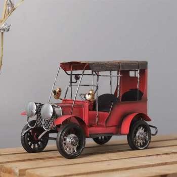 New Vintage Metal Car Crafts Metal Antique Cara Model Desktop Decoration Children Toys Birthday Gift Home Decoration