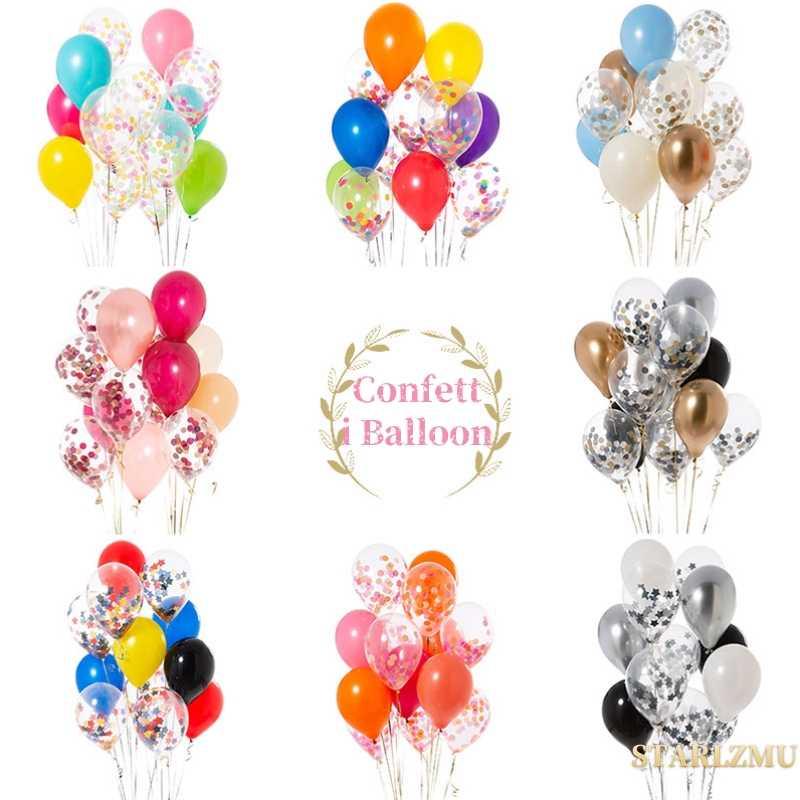 STARLZMU 15pcs Confetti Palloncini Unicorn Partito Foil elio Figure Palloncini Di Compleanno Decorazioni Del Partito Del Capretto Baloons Balon