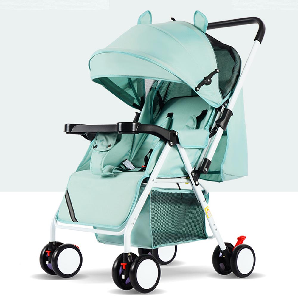 Baby stroller ultra light and convenient folding can sit lie baby simple umbrella child mini four wheel car