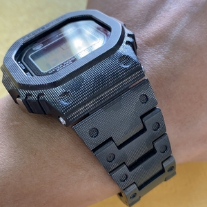 Image 2 - Yüksek kaliteli GMW B5000 titanyum alaşımlı saat kayışı ve çerçeve GMW B5000 Metal kayış bilezik kapak araçları ile 3 renk