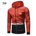 Daiwa одежда для мужчин дышащие рубашки для рыбалки с длинным рукавом спортивная одежда для рыбалки быстросохнущая куртка на молнии с кармано...
