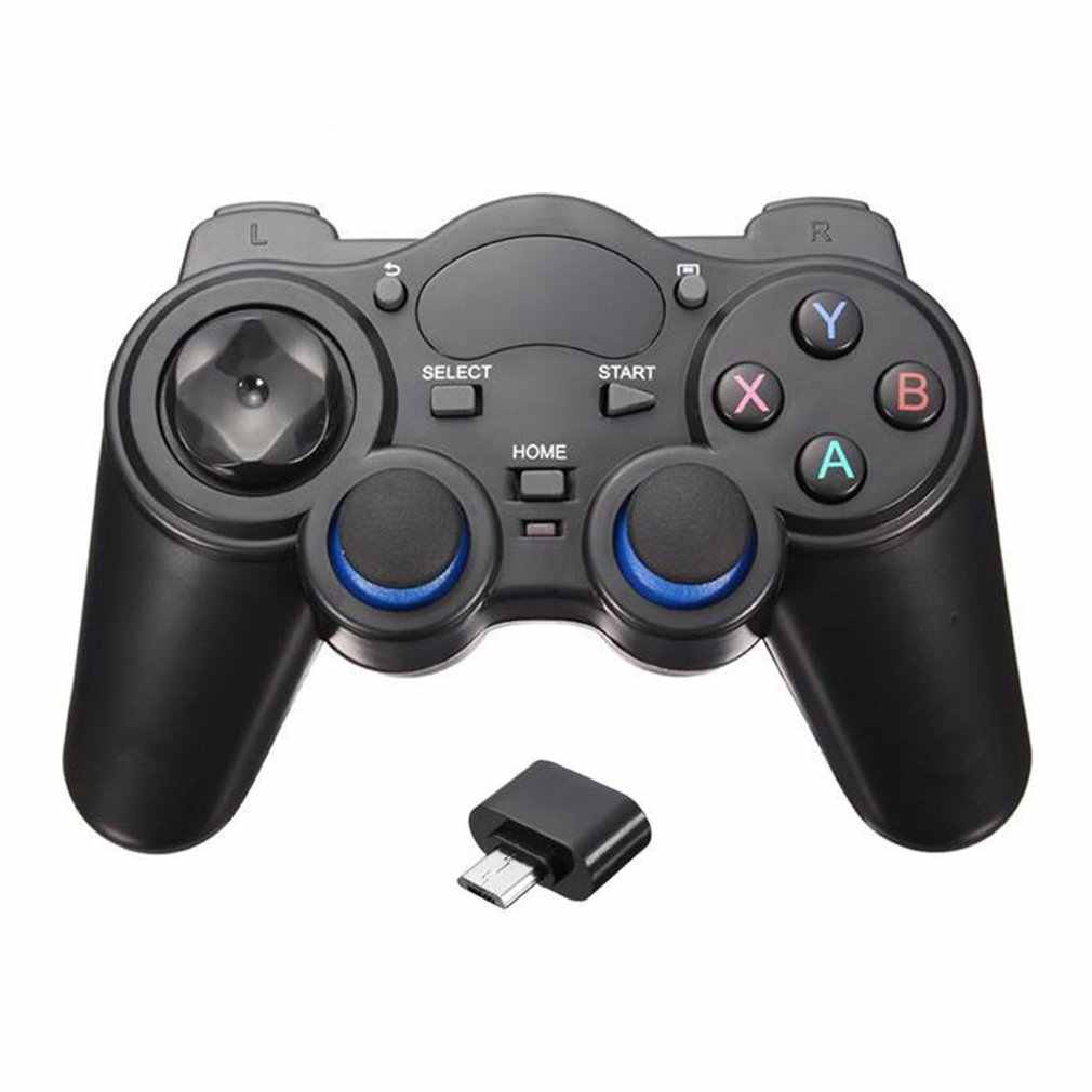 2.4G Nirkabel Handle Gamepad untuk Android Ponsel/Komputer PC/PS3/TV Box Smart Phone Remote Gamepad controller dengan OTG Converter