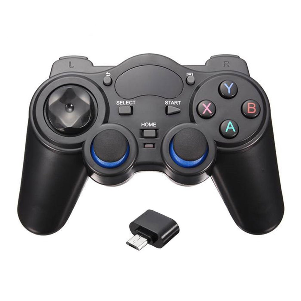 2.4G <font><b>Wireless</b></font> Handle Gamepad For Android Phone/<font><b>PC</b></font> Computer/PS3/TV Box Smart Phone Remote GamePad <font><b>Controller</b></font> With OTG Converter image